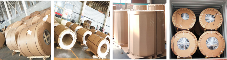 Wooden grain color coated aluminum coil packing