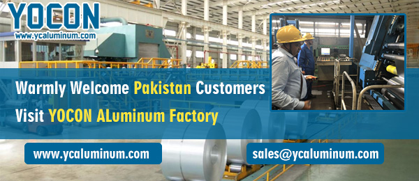 Warmly Welcome Pakistan Customers Visit YOCON ALuminum Factory