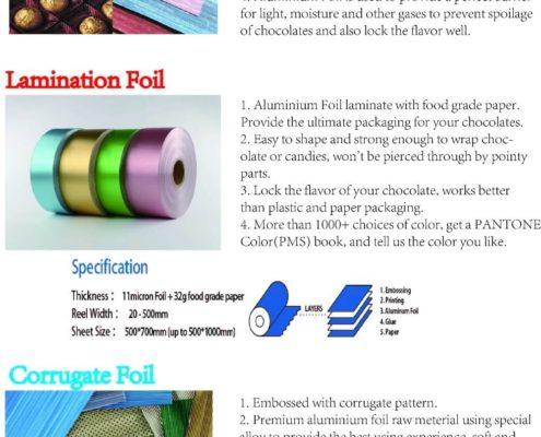 Chocolate Packaging Aluminum Foil 01